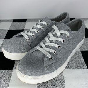 LOFT Grey Cotton Casual Sneaker Shoes Size 8